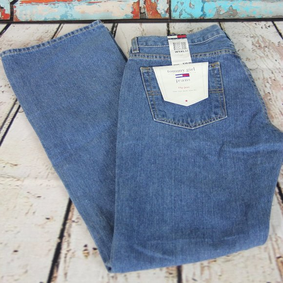 Tommy Girl Jeans Low Rise Slim Fit Hip Flag Jeans